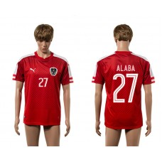 European Cup 2016 Austria home 27 Alaba red AAA+ soccer jerseys