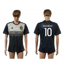 European Cup 2016 Sweden away 10 Ibrahimovi AAA+ soccer jerseys