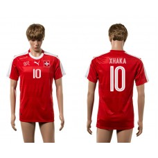 European Cup 2016 Switzerland home 10 Xhaka red AAA+ soccer jerseys