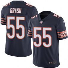 2016 Nike Chicago Bears 55 Hroniss Grasu Navy Blue Mens Stitched NFL Limited Rush Jersey