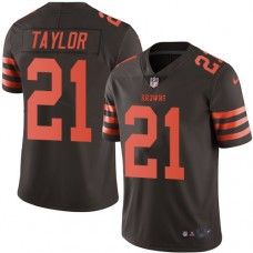 2016 Nike Cleveland Browns 21 Jamar Taylor Brown Mens Stitched NFL Limited Rush Jersey