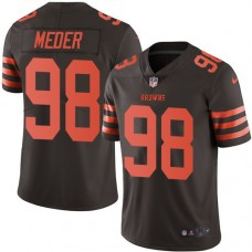 2016 Nike Cleveland Browns 98 Jamie Meder Brown Mens Stitched NFL Limited Rush Jersey
