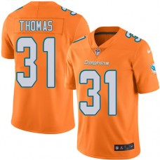 2016 Nike Miami Dolphins 31 Michael Thomas Orange Mens Stitched NFL Limited Rush Jersey