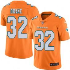 2016 Nike Miami Dolphins 32 Kenyan Drake Orange Mens Stitched NFL Limited Rush Jersey