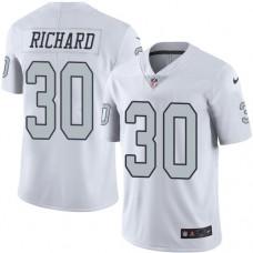 2016 Nike Oakland Raiders 30 Jalen Richard White Mens Stitched NFL Limited Rush Jersey