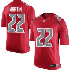 2016 Nike Tampa Bay Buccaneers 22 Doug Martin Red Mens Stitched NFL Limited Rush Jersey