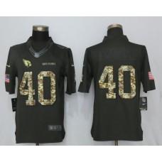 2017 Men Arizona Cardinals 40 Tillman Anthracite Salute To Service Green New Nike Limited NFL Jersey