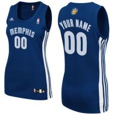 Adidas Memphis Grizzlies Women Custom Replica Road Blue NBA Jersey