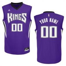 Adidas Sacramento Kings Youth Custom Replica Road Purple NBA Jersey