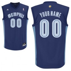 Men Adidas Memphis Grizzlies Custom Replica Road Blue NBA Jersey