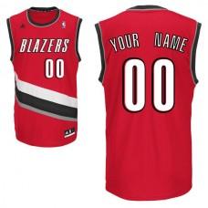 Men Adidas Portland Trail Blazers Custom Replica Alternate Red NBA Jersey 1