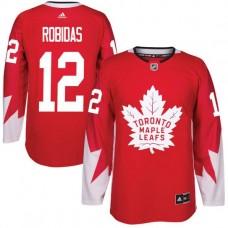 2017 NHL Toronto Maple Leafs Men 12 Stephane Robidas red jersey