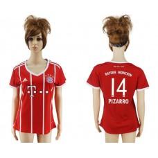 2017-2018 Club Bayern Munich home aaa verion women 14 soccer jersey