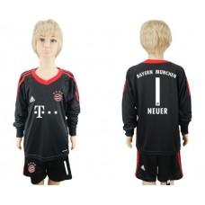 2017-2018 club Bayern Munchen goalkeeper Long sleeve youth 1 soccer jersey