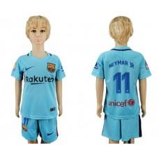 2017-2018 club barcelona aeay kids 11 soccer jersey