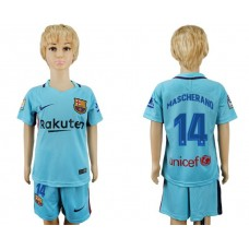 2017-2018 club barcelona aeay kids 14 soccer jersey