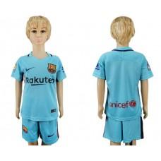 2017-2018 club barcelona aeay kids blank soccer jersey