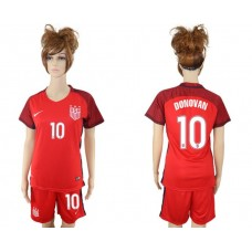 2017-2018 national women United States away 10 red soccer jersey