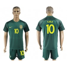 Men 2017-2018 National Brazil away 10 Kaka soccer jersey