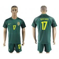 Men 2017-2018 National Brazil away 17 soccer jersey