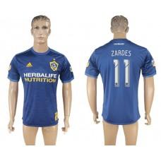 Men 2017-2018 club Los Angeles Galaxy away aaa version 11 blue soccer jersey