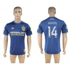 Men 2017-2018 club Los Angeles Galaxy away aaa version 14 blue soccer jersey