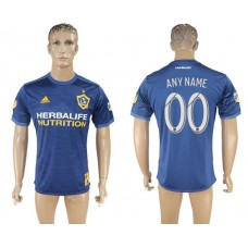Men 2017-2018 club Los Angeles Galaxy away aaa version customized blue soccer jersey