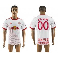Men 2017-2018 club New York Red Bulls home aaa version customized white soccer jersey