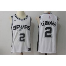 2017 Men San Antonio Spurs 2 Leonard white Nike NBA Jersey