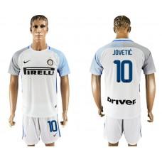 Men 2017-2018 club Inter milan away 10 white soccer jersey1