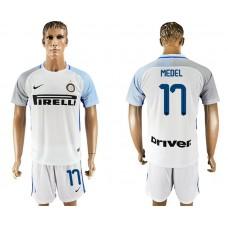 Men 2017-2018 club Inter milan away 17 white soccer jersey1