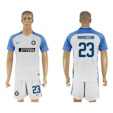 Men 2017-2018 club Inter milan away 23 white soccer jersey