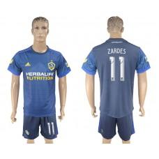Men 2017-2018 club LA Galaxy away 11 blue soccer jersey
