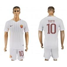 Men 2017-2018 club Rome away 10 white soccer jersey