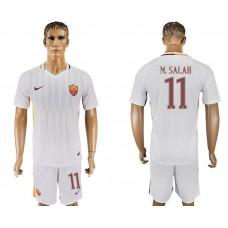 Men 2017-2018 club Rome away 11 white soccer jersey