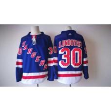 2017 Men NHL New York Rangers 30 Lundqvist Adidas blue jersey