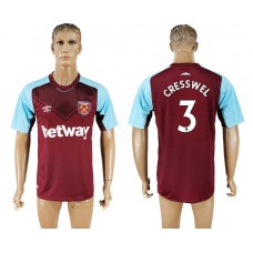 Men 2017-2018 club West ham at home 3 red aaa version soccer jersey