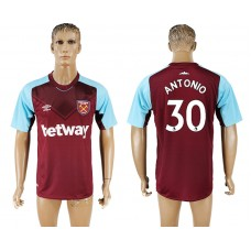 Men 2017-2018 club West ham at home 30 red aaa version soccer jersey