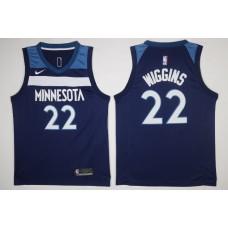 Men Minnesota Timberwolves 22 Wiggins Blue New Nike Season NBA Jerseys