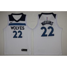 Men Minnesota Timberwolves 22 Wiggins White New Nike Season NBA Jerseys
