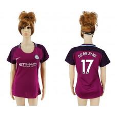 2017-2018 Club manchester city away aaa version women 17 soccer jersey