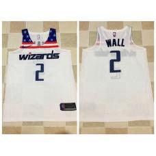 Men Washington Wizards 2 Wall White Nike NBA Jerseys