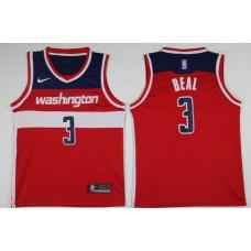 Men Washington Wizards 3 Beal Red Game Nike NBA Jerseys