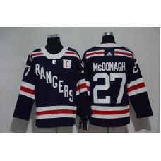 2017 Men NHL New York Rangers 27 McDonagh blue Adidas jersey