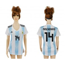 2018 World Cup Argentina home aaa version women 14 soccer jersey