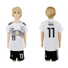 2018 World Cup Germany home kids 11 white soccer jersey