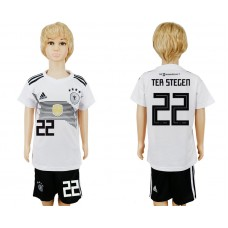 2018 World Cup Germany home kids 22 white soccer jersey