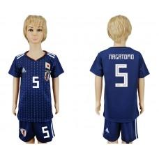 2018 World Cup Japan home kids 5 blue soccer jersey