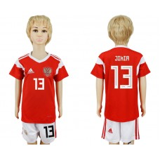2018 World Cup Russia home kids 13 red soccer jersey