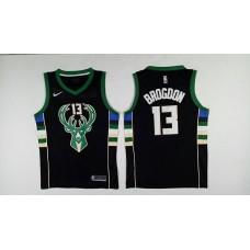 Men Milwaukee Bucks 13 Brogdon Black Nike NBA Jerseys